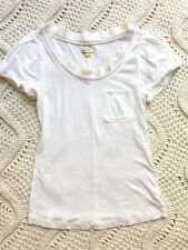 Anthropologie Leifsdottir Cotton Blouse Balloon Sleeve Ruffle Neck Shirt XS D23