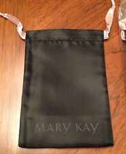 SET OF 5 MARY KAY BLACK NYLON  POUCH WITH PINK TIES