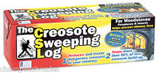 Creosote Chimney Sweeping Log for Woodstoves, Fireplaces, Inserts 227972!