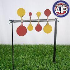 8 gli obiettivi di metallo su 4 in acciaio doppia Spinners AIR RIFLE SHOOTING plinking HFT GS01