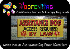 WOVEN iron on ASSISTANCE Dog patch - sew on
