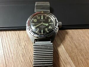 Soviet Military Vostok Amphibian Diver watch USSR Diver Anti-magnetic.Working .