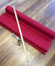 Deluxe Red Hessian Fabric Fine Weave Quality Jute Burlap Craft Upholstery