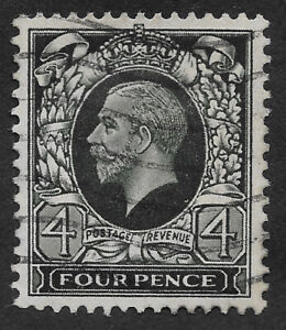 Great Britain 1934-1936 King George V-Full Color in Oval  4 p (HBX)