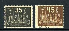 Sweden #203 & #205 (Sw770) Upu Congress, Perf 10, U, Ffvf, Cv$60.50