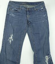 BLUENOTES Distressed Low Rise Flare Leg Designer Jeans Size 29 Free Shipping
