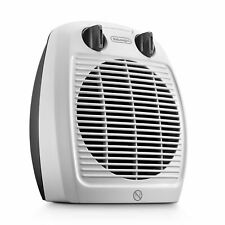 De'Longhi 2kW Two-Setting Upright Fan Heater Home Indoors Temperature - White