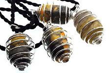 Bumble Bee Jaspe Piedras Preciosas De Cristal Espiral Colgante