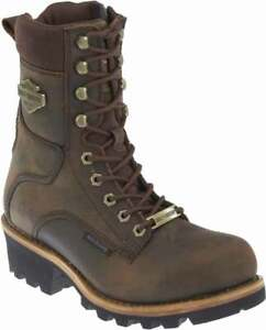 Harley-Davidson Men's Tyson 7.5-Inch Brown Logger Style Motorcycle Boots D96100