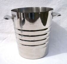 French Art Deco Stainless Steel Champagne Cooler Ice Bucket