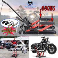 680kg Low Profile Motorcycle ATV Hydraulic Jack Motorbike Stand Hoist Lift