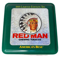 Vintage 1995 Limited Edition Red Man Chewing Tobacco Morning Trio Tin Jim Kasper