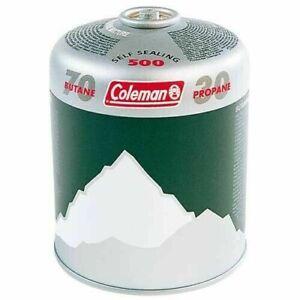 Coleman C500 Gas Cartridge butane/ Propane Mix Self Sealing Screw Thread