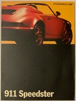 MINT ORIGINAL! 1993 Porsche 911 Speedster Sales Brochure 10pgs FREE US Shipping!