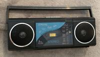 Vintage JC Penny FM/AM Radio Stereo Boom Box Cassette Player model #681-6063