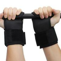 Weight lifting Power Hooks Bar Wrist Support Straps Gym Gloves Training 6L