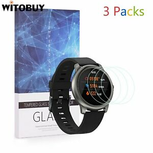 For Haylou Solar Smart Watch Tempered Glass Screen Protector 9H Hardness 3 Packs