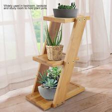 3 Tier Mini Table Desktop Wooden Plant Flower Stand Plant Display Ladder Shelf