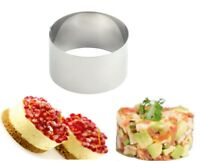 METALTEX Deluxe Stainless Steel 8cm Food Ring Professional Catering Strong