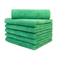"6 Pcs microfiber cleaning cloth towels rags car polishing detailing 16""x16"""