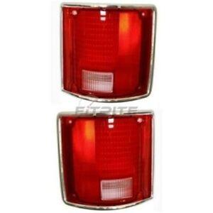 NEW LH & RH TAIL LAMP LENS FITS CHEVROLET BLAZER 1973-1991 GM2800122 GM2801122