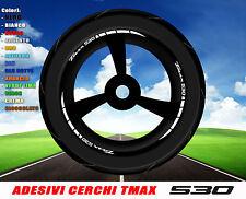 Adesivi cerchi ruote TMAX 530 T MAX T-MAX strisce adesive stickers decals