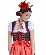 Mini-Dirndl SOPHIE Bluse Schürze Schwarz/Rot 32-46 Trachtenkleid Tracht neu