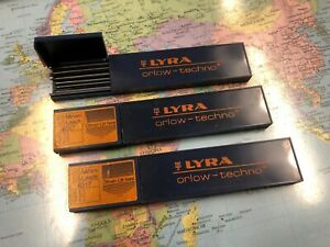 Set of 3 Vintage Lyra 3H 6317 Lead Boxes NEW