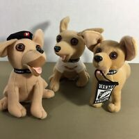 Lot of 3 Taco Bell Chihuahua Talking Dogs Plush Animal Chalupa Gordita How Cool