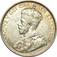 1918 C NEWFOUNDLAND SILVER 50 CENTS - HIGH GRADE CIRC COLLECTOR COIN! -d543ncx