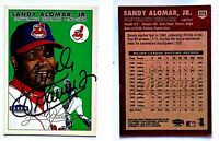 Sandy Alomar Jr. Signed 2000 Fleer Tradition #375 Card Cleveland Indians Auto