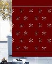Christmas Decorations Xmas Stars Bathroom Shower Curtain Polyester 180 x 180cm