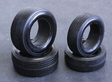 """1964 1/25 Black Indy Resin tires """"stones"""" one set 2 fronts 2 rears"""