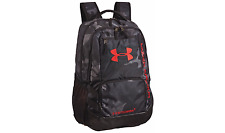 Under Armour Storm Hustle II Backpack School Casual Sports Black/Red Military