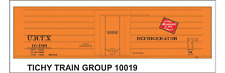Tichy Train Group #10019 HO Scale URTX (MILW) Rib Side Reefer Decals