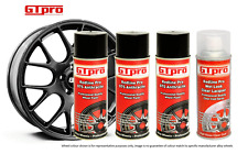Anthracite Black Metallic Alloy Wheel Paint + High Gloss Lacquer 4 Cans  GTPRO