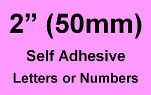 """2"""" (50mm) Self Adhesive Numbers / Letters (you choose upto 15 off)"""
