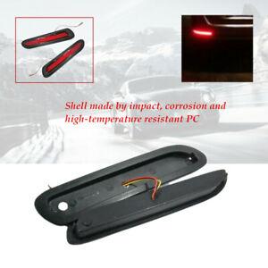 2pcs 12V Lens LED Car Rear Bumper Reflectors Taillight Brake Fog  Light Durable