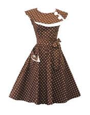 Ropa vintage de mujer marrón, talla 40
