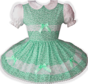 Pretty Lacy Floral Bows Adult Little Girl Sissy Dress Leanne's