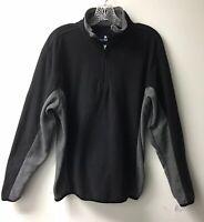 Men's NORDIC TRACK Gray/Black Fleece Jacket Sweatshirt 1/4 zip Size M