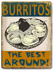 TACOS BURRITOS MEXICAN food METAL sign / VINTAGE style RESTAURANT wall decor 585