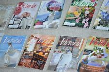 Victoria Magazine 1997 Lot of 12 Issues vintage Hard to Find Keepsake Issue +++