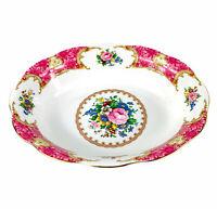"Vintage Royal Albert Lady Carlyle 1944 Pink Floral Oval Serving Bowl Dish 9""L"