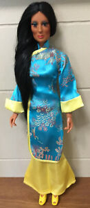 Cher Designer collection Madame Chan BLUE Outfit With YELLOW SHOES In Good Cond
