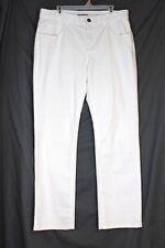 SOFT SURROUNDINGS $84 Classic Jeans 16 PETITE White Triple S Lycra Stretch Denim