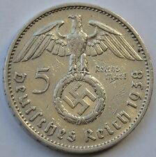5 Mark 1938 F Third Reich Nazi Germany Silver coin