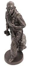 "Khaki Army: Flyboy US Navy Pilot - KA007 12"" Bronze Finish Military Statue Gift"