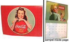COCA COLA COKE SODA 2012 WALL CALENDAR OLD AD GRAPHICS GREAT IMAGES FOR FRAMING