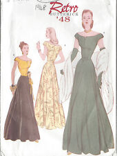 "1948 Vintage Sewing Pattern DRESS B34""-36""-38"" (R414)"